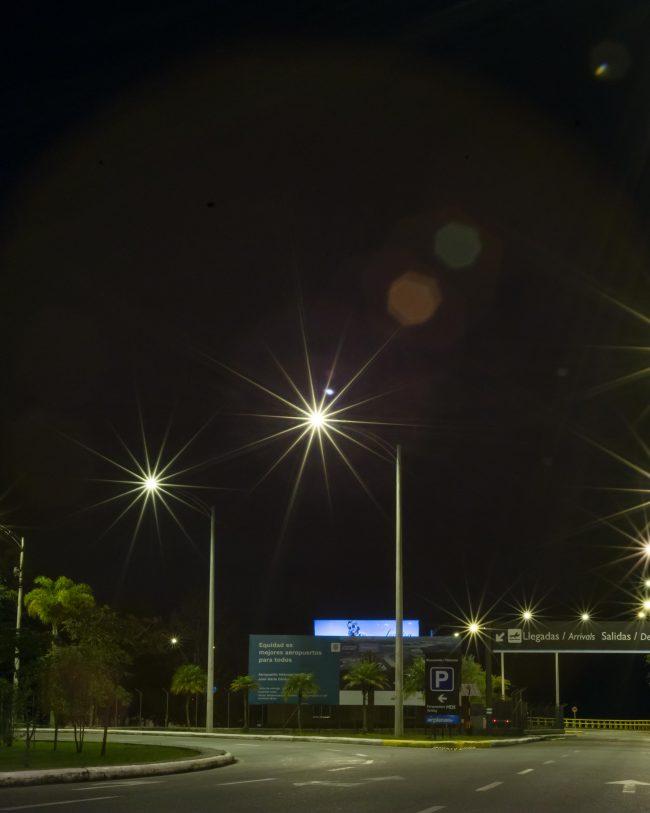 aeropuerto, alumbrado publico, iluminacion